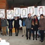 Baustellenführung mit Spendenübergabe an der Carl-Orff-Schule