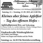 1. Apfelfest Bender`s Schlemmer-Scheune & Hofladen