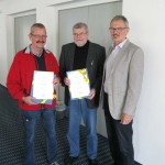 Paul Fischer aus Sinsheim und Klaus Thorn aus Neulußheim geehrt
