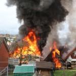Schallenbergweg in Flammen