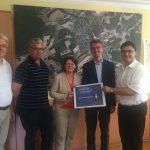 SPD-Politiker Lars Castellucci und Annette Sawade setzen sich für Ortsumgehung Angelbachtal ein