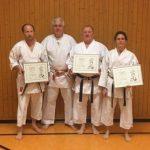 Ehrungen für langjähriges Enagement im Karate-Dojo