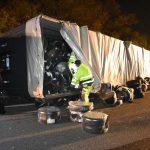 Große Bildergalerie von dem LKW Unfall auf der A6 gestern Abend
