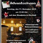 Adventssingen im kleinen Weihnachtsdorf