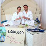 THERMEN & BADEWELT SINSHEIM begrüßt 3 Millionsten Besucher