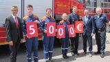 5.000 Euro für Sinsheimer Feuerwehr-Nachwuchs