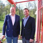 """Dr. Albrecht Schütte MdL zu Besuch bei """"Baukom"""", einem Experten für Bauprodukte in Sinsheim-Reihen"""