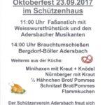 Oktoberfest beim Schützenverein 1925 e.V. Adersbach
