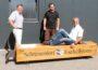 Ein Schreinerhobel als Sitzbank für das Technik Museum Sinsheim