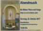 Abendmusik für Bläser, Piano und Geige in Neunkirchen