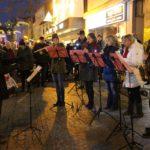 Weihnachtsliedersingen mit der Stadtkapelle Sinsheim in der Fußgängerzone