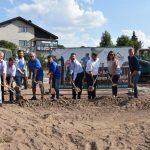 Der Trainingsplatz des TSV Waldangelloch e.V. wird zum Kunstrasenspielfeld umgebaut