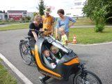 Beratung zum Radfahren mit Baby zum Weltkindertag