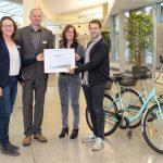 Rhein-Neckar-Kreis ist zertifizierter fahrradfreundlicher Arbeitgeber