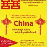 China – ehrwürdige Kultur, zukünftige Großmacht