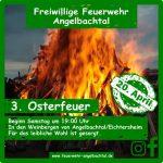 3. Osterfeuer der Freiwilligen Feuerwehr Angelbachtal