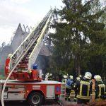 Feuerwehren aus Eppingen und Schwaigern löschen Dachstuhlbrand
