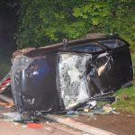 Schwerer Verkehrsunfall, Clio flüchtet vor Streifenwagen