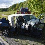 Schwerer Verkehrsunfall, mehrere Personen verletzt, Bundesstraße 39 derzeit gesperrt