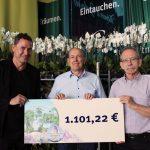 1.101 Euro an den Förderverein der Burg Steinsberg