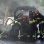 A6/Grombach: BMW brannte auf A6 aus – Insassen können sich rechtzeitig retten