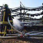 Odenheim: Ballensammler geriet während Fahrt in Brand – Feuerwehr im Einsatz