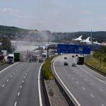 A6 bei Sinsheim nach Lkw-Brand voll gesperrt