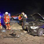 Mühlhausen: Drei Verletzte nach Frontalzusammenstoß auf B39 (mit Fotostrecke)