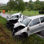 Schwerer Verkehrsunfall auf der K 4282, Rettungskräfte im Einsatz