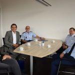 Antrittsbesuch des Polizeipräsidenten Andreas Stenger bei OB Jörg Albrecht
