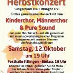 Großes  Sängerbund-Herbstkonzert am 12. Oktober