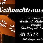 Weihnachtsmusik mit der Stadtkapelle Sinsheim