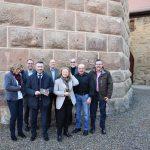 Bronzeplakette für Burg Steinsberg in Sinsheim-Weiler