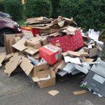 Papier-Container in Sinsheim wurde abgezogen