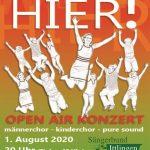 WIEDER HIER – das etwas andere OpenAir-Konzert