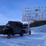Winterliche Jeeptour zum Polarkreis